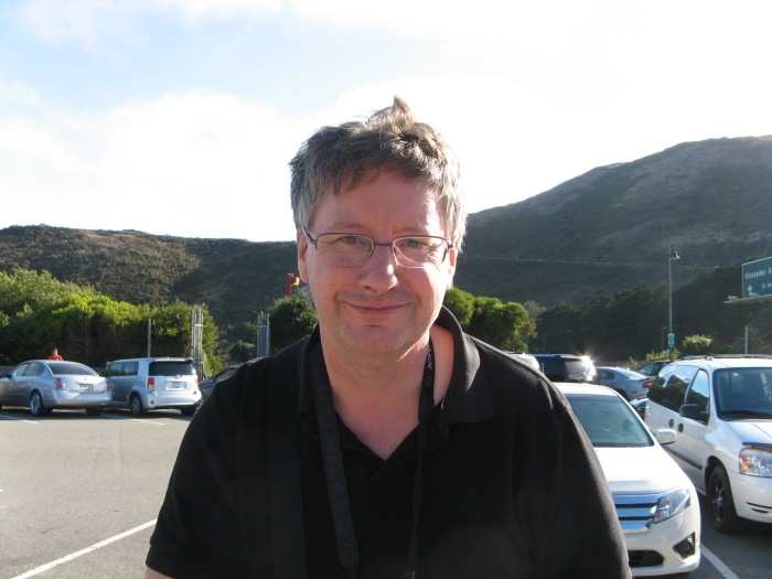 A picture of me taken in a car park near the Golden Gate Bridge in San Francisco (2014).
